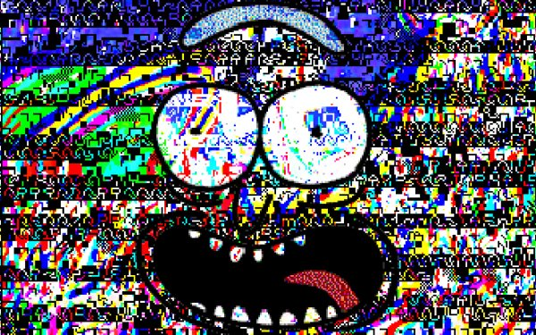 TV Show Rick and Morty Glitch Pixel Art HD Wallpaper   Background Image