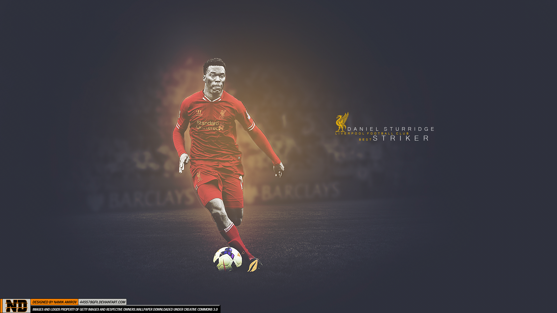 Daniel Sturridge - Liverpool HD Wallpaper