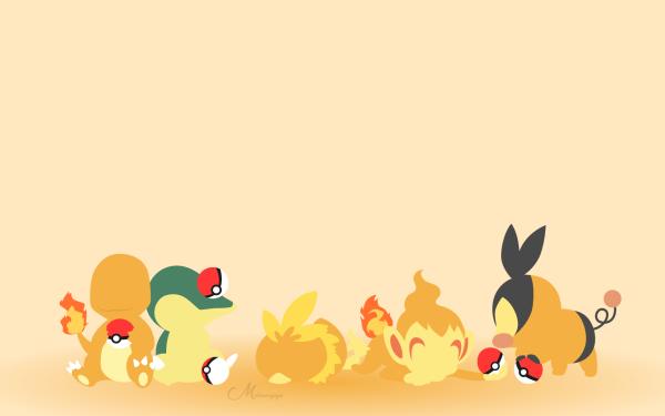 Anime Pokémon Charmander Cyndaquil Torchic Chimchar Tepig HD Wallpaper | Background Image