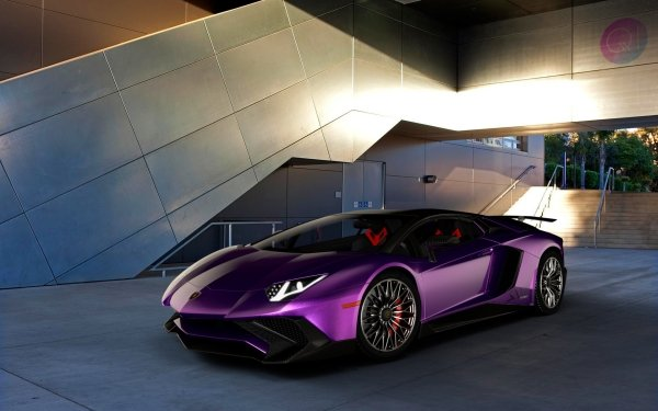 Véhicules Lamborghini Aventador SV Lamborghini Voiture Purple Car Sport Car Supercar Fond d'écran HD | Image