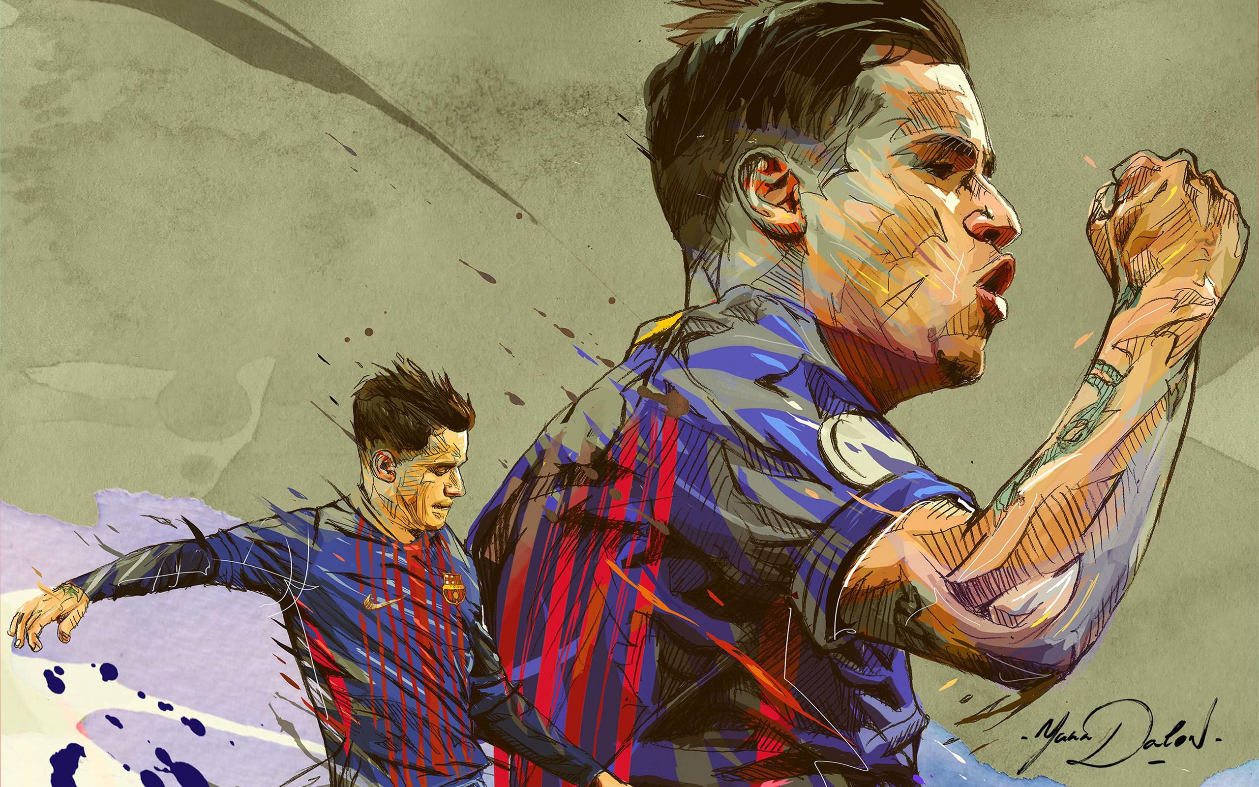 Philippe Coutinho Correia Barcelona Hd Wallpaper Background