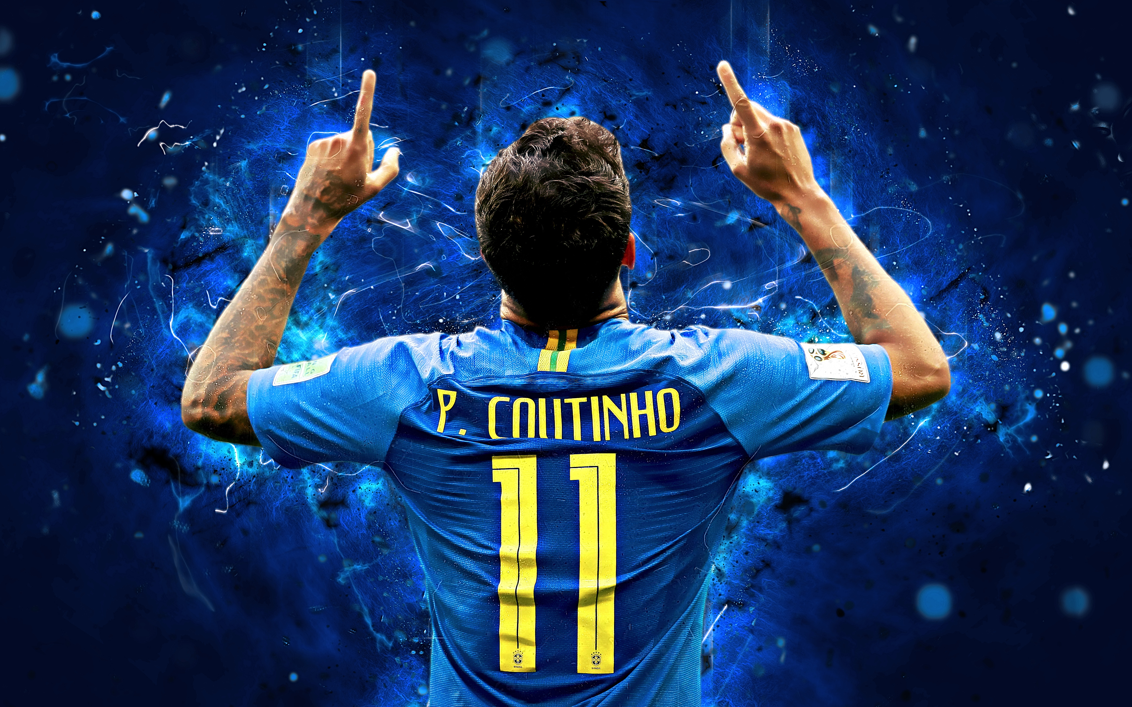 Philippe coutinho brasil 4k ultra hd wallpaper - Coutinho wallpaper hd ...