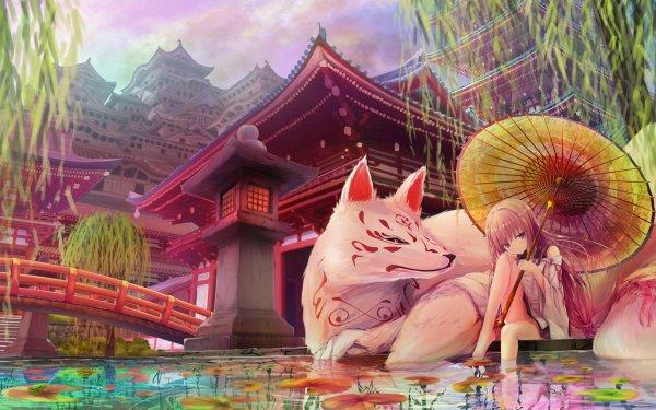 Anime Girl Fox HD Wallpaper | Background Image