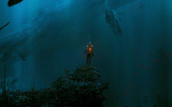 Fantaisie Monstre Marin Underwater Fond d'écran HD | Arrière-Plan