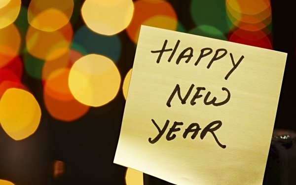 Holiday New Year Happy New Year Ligths Notebook HD Wallpaper   Background Image