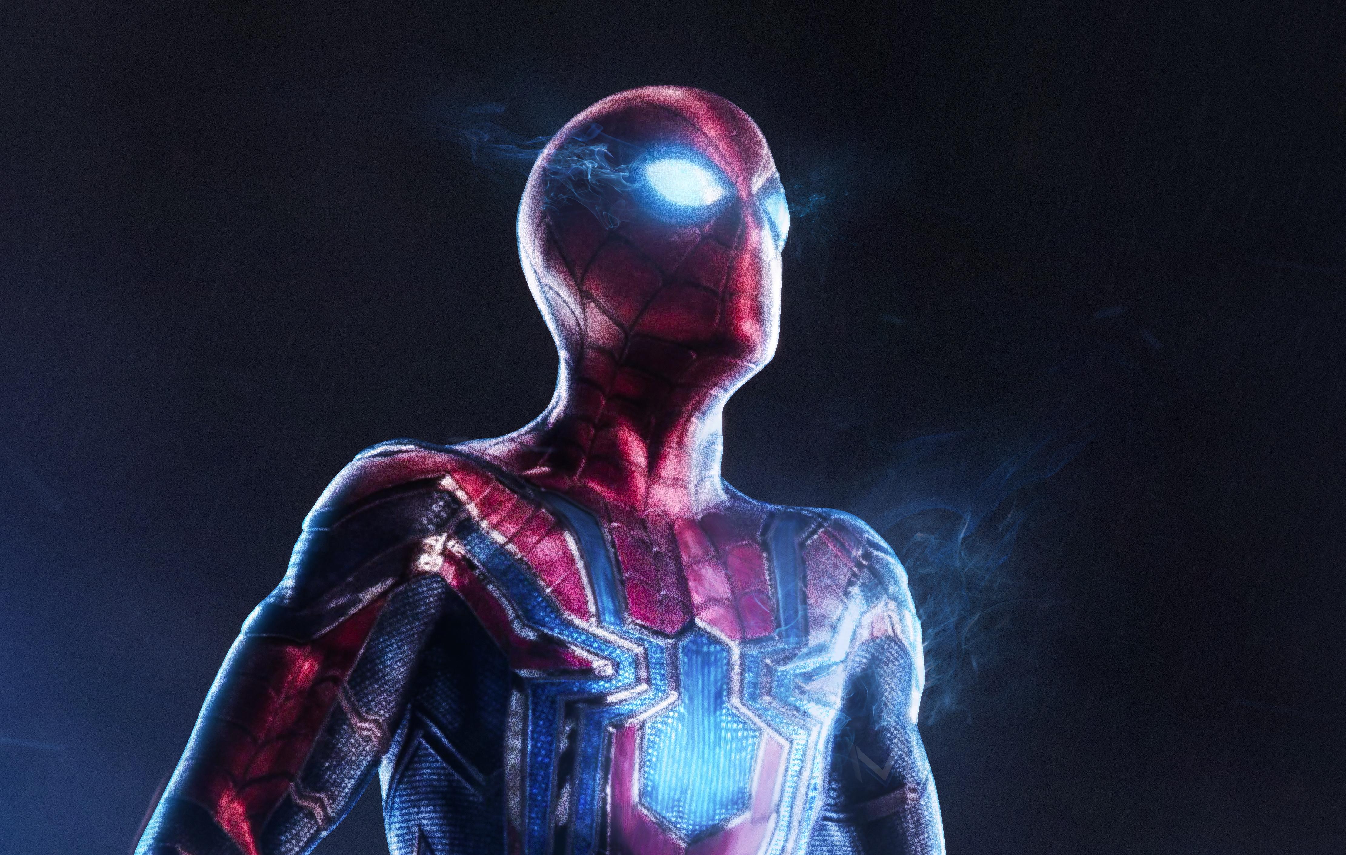 Iron Spider 4k Ultra Hd Wallpaper Hintergrund 4442x2820