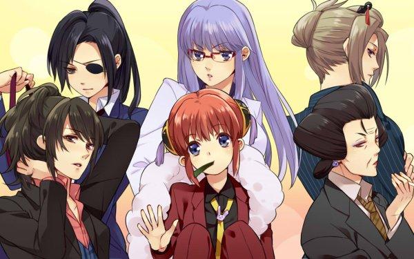 Anime Gintama Kagura Yagyuu Kyuubei Tae Shimura Tsukuyo Otose Sarutobi Ayame HD Wallpaper | Background Image