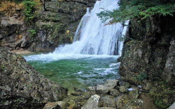 Earth Waterfall Waterfalls Nature Water Rock Moss Spain Castilla la Mancha HD Wallpaper | Background Image