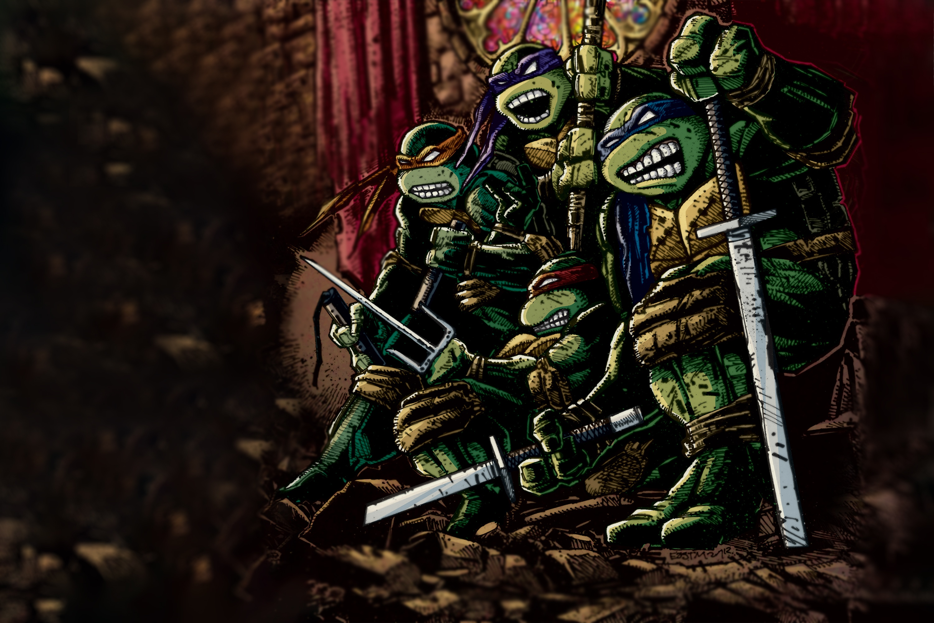Teenage Mutant Ninja Turtles Hd Wallpaper Background Image