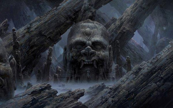 Dark Temple Fantasy HD Wallpaper | Background Image
