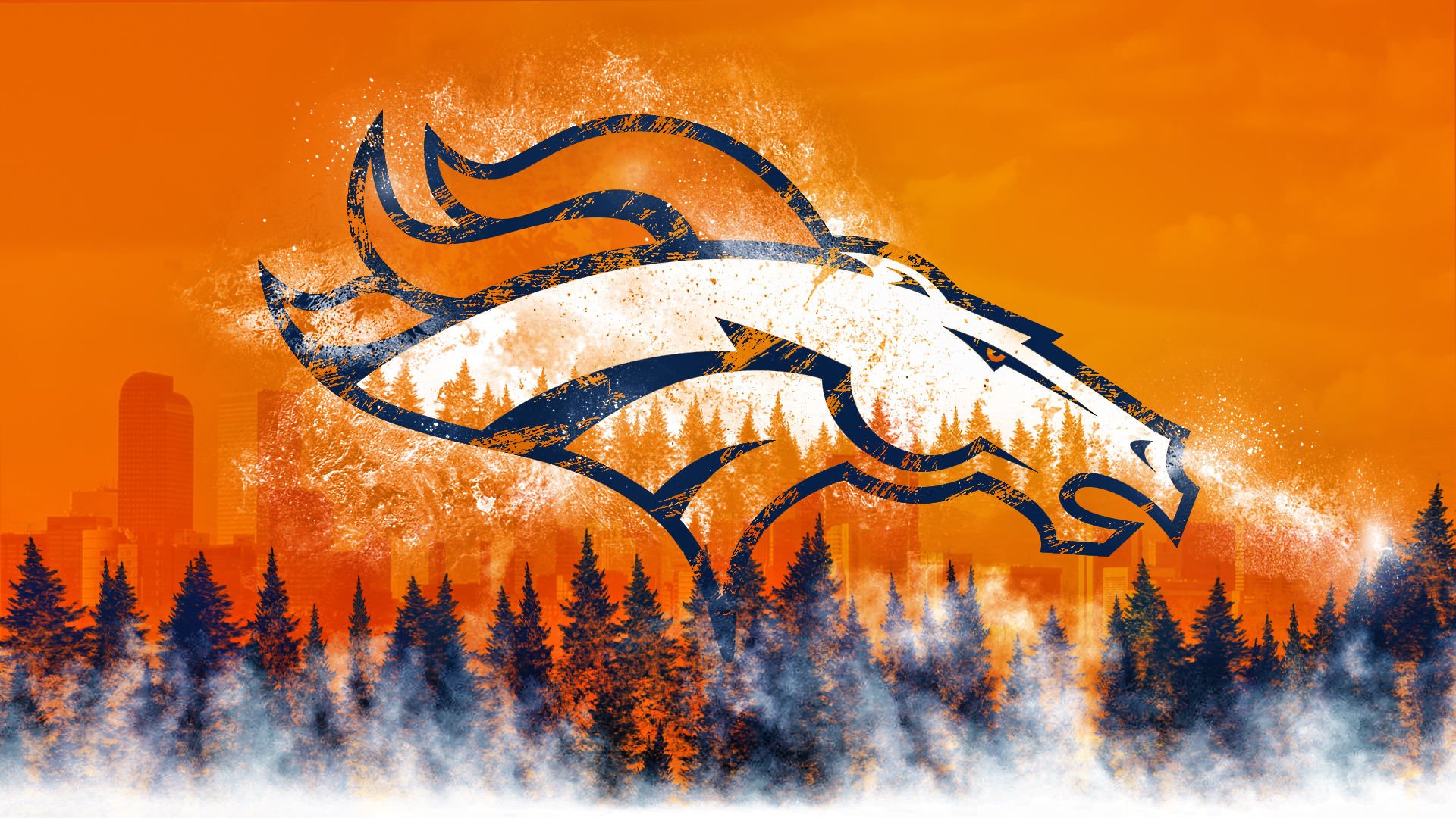 Denver Broncos Hd Wallpaper Hintergrund 1920x1080 Id982026