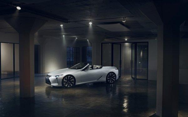 Véhicules Lexus LC 500 Lexus Voiture White Car Grand Tourer Supercar Fond d'écran HD | Arrière-Plan