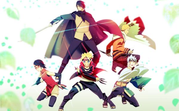 Anime Boruto Naruto Boruto Uzumaki Sasuke Uchiha Naruto Uzumaki Mitsuki Sarada Uchiha Papel de Parede HD | Plano de Fundo