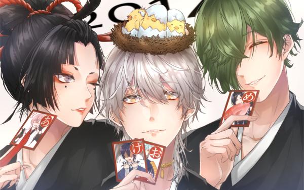 Anime Touken Ranbu Tsurumaru Kuninaga Uguisumaru Kogarasumaru HD Wallpaper | Background Image