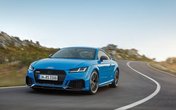 Vehicles Audi TT RS Audi Audi TT Car Sport Car Blue Car HD Wallpaper | Background Image