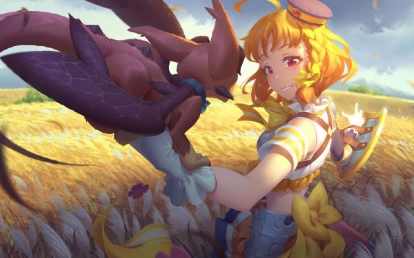 Anime Love Live! Sunshine!! Love Live! Girl Field Chika Takami Blonde Red Eyes HD Wallpaper | Background Image