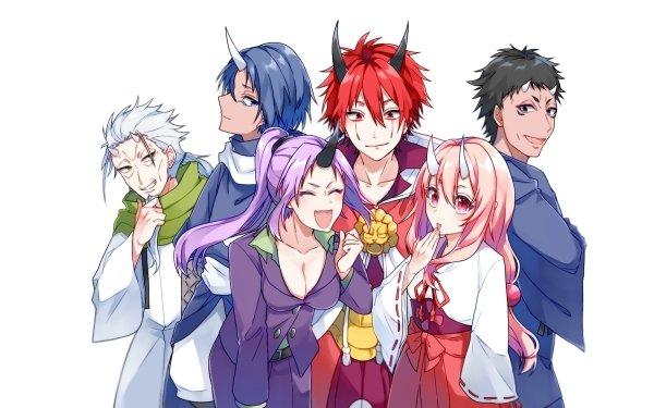 Anime That Time I Got Reincarnated as a Slime Shuna Shion Hakurou Souei Benimaru Kijin HD Wallpaper | Background Image