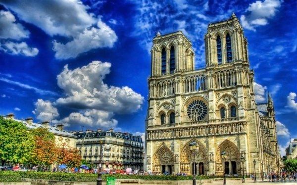 Religious Notre-Dame de Paris Cathedrals Paris HD Wallpaper | Background Image
