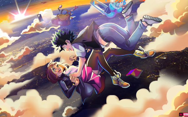 Anime My Hero Academia Izuku Midoriya Ochaco Uraraka HD Wallpaper | Background Image